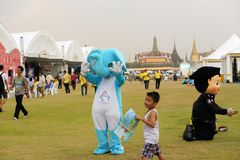 Mascots for Thai King's birthday, a major holiday Royalty Free Stock Image