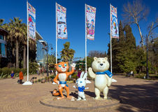 Mascots of Winter Olympics 2014. Sochi. Russia Royalty Free Stock Image