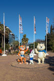 Mascots of Winter Olympics 2014. Sochi. Russia Royalty Free Stock Photos