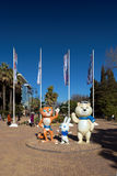Mascots of Winter Olympics 2014. Sochi. Russia Stock Photos