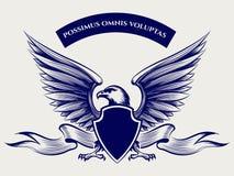 Mascotte américaine d'aigle chauve illustration de vecteur