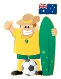 Mascotte Australia di gioco del calcio Fotografia Stock Libera da Diritti