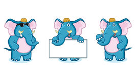 Mascotte bleue d'éléphant Photos stock