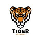 Mascotte capa della tigre Illustrazione selvaggia di vettore della tigre illustrazione di stock