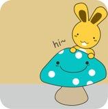 Mascotte comique et lapin Photo libre de droits
