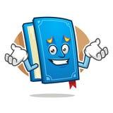 Mascotte désolée se sentante de livre, caractère de livre, bande dessinée de livre illustration de vecteur