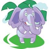 Mascotte d'éléphant de bande dessinée sur le fond Images stock