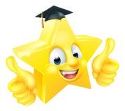 Mascotte d'émoticône d'Emoji d'obtention du diplôme d'étoile illustration de vecteur
