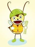 Mascotte d'abeille d'entrepreneur Image libre de droits