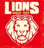 Mascotte d'annata del leone Fotografia Stock Libera da Diritti