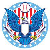 Mascotte d'Eagle de base-ball Photos libres de droits