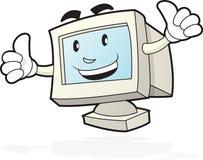 Mascotte d'ordinateur - deux pouces vers le haut Image libre de droits