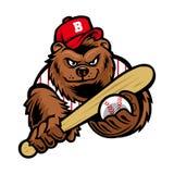Mascotte d'ours de base-ball Photos stock