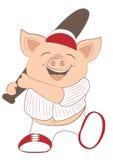 Porc de base-ball Images libres de droits