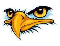 mascotte de bande dessinée de visage d'aigle chauve peut employer pour le logo de sport illustration libre de droits