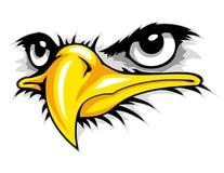 mascotte de bande dessinée de visage d'aigle chauve peut employer pour le logo de sport illustration stock