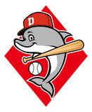 Mascotte de base-ball de dauphin Photo stock