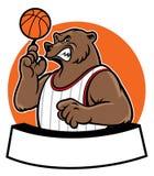 Mascotte de basket-ball d'école d'ours Image stock