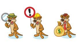 Mascotte de Brown Meerkat avec l'argent Images stock