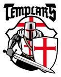 Mascotte de chevalier de Templar Photographie stock libre de droits