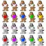 Mascotte de chien Photographie stock libre de droits