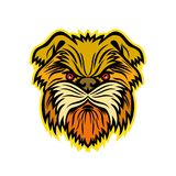 Mascotte de chien de singe d'Affenpinscher Illustration Stock