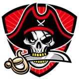 Mascotte de crâne de pirate Images libres de droits