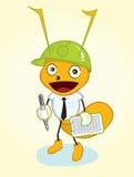 Mascotte de fourmi d'entrepreneur Image libre de droits