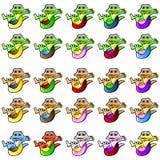Mascotte de gecko Image stock