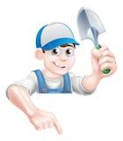Mascotte de jardinage illustration de vecteur