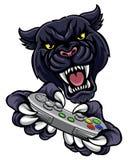 Mascotte de joueur de Gamer de panthère noire Photo libre de droits