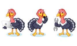 Mascotte de la Turquie avec le téléphone Images libres de droits