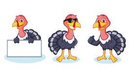 Mascotte de la Turquie heureuse Photos stock
