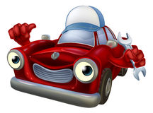 Mascotte de mécanicien de voiture de bande dessinée Photo libre de droits