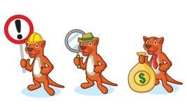 Mascotte de Mustela de Brown avec l'argent Images libres de droits