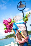 Mascotte de pilier de village de pêche de Bao de coup Photos libres de droits