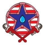 Mascotte de plombier illustration libre de droits