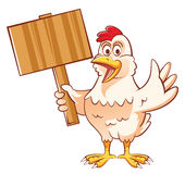 Mascotte de poulet Photo stock