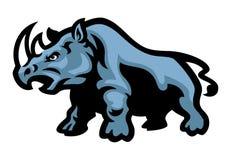 Mascotte de rhinocéros illustration libre de droits