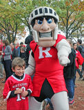 Mascotte de Rutgers Photos stock