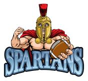 Mascotte de Spartan Trojan American Football Sports illustration stock