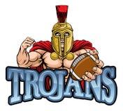Mascotte de Spartan Trojan American Football Sports photo stock
