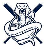 Mascotte de sport de base-ball de cobra Photos stock