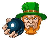 Mascotte de sports de boule de bowling de participation de lutin image libre de droits