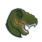 Mascotte de tête de Raptor Images stock