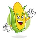 Mascotte del cereale di saluto, carattere del cereale, fumetto del cereale Immagine Stock Libera da Diritti