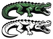 Mascotte del coccodrillo illustrazione di stock