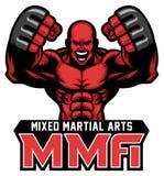 Mascotte del combattente del Muttahida Majlis-E-Amal illustrazione di stock