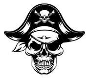 Mascotte del cranio del pirata illustrazione vettoriale