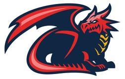 Mascotte del drago illustrazione vettoriale